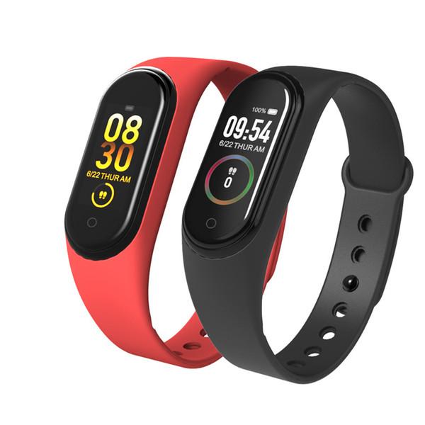 Yeni M4 akıllı bilezik Kalp hızı kan basıncı izleme Bilgi itme su geçirmez Spor adım Bluetooth bilezik