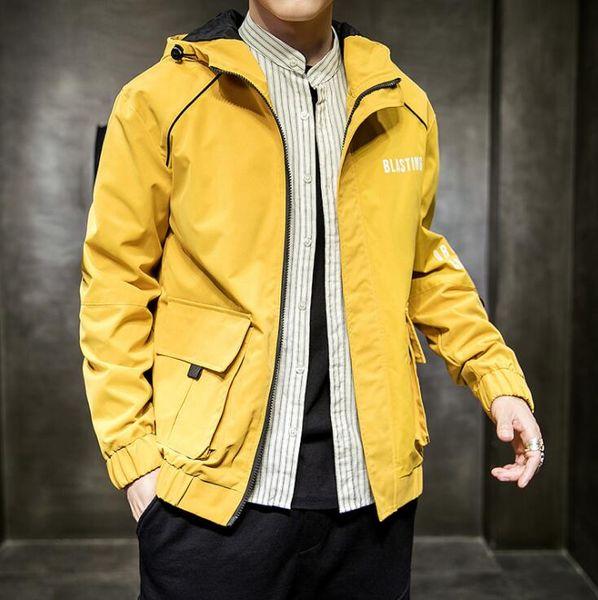 Moda Erkek Ceketler Coat Yeni Tasarımcı Kapüşonlu Ceket Harfler Ile Rüzgarlık Erkekler Için Fermuar Hoodies Sportwear Tops Giyim 3 Renkler M-3XL