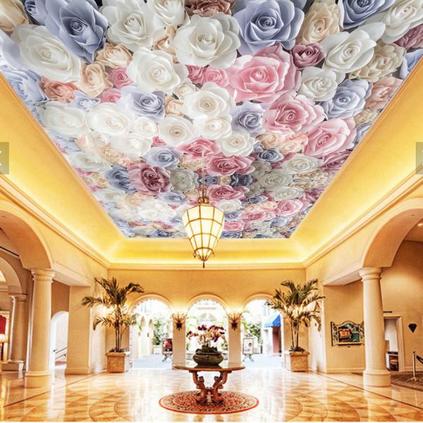 Large Ceiling Papel Mural 8d3d Colourful Flower Wallpaper Mural For Living Room Wall Paper 8d Photo Mural 3d Flower Free High Resolution Desktop