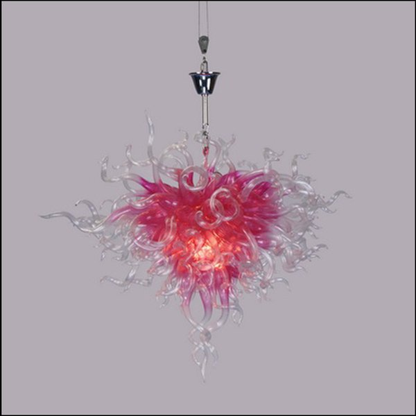 flower shape crystal blown glass chain pendant lamps tiffany style art glass pendant lights for kitchen décor