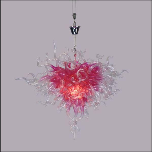 flower shape crystal blown glass chain pendant lamps tiffany style art glass pendant lights for kitchen décor