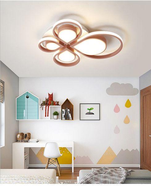 Moderne bleu ou rose LED Plafonnier Télécommande luminaire éclairage du salon éclairage chambre enfants lampe Nouveauté luminaire