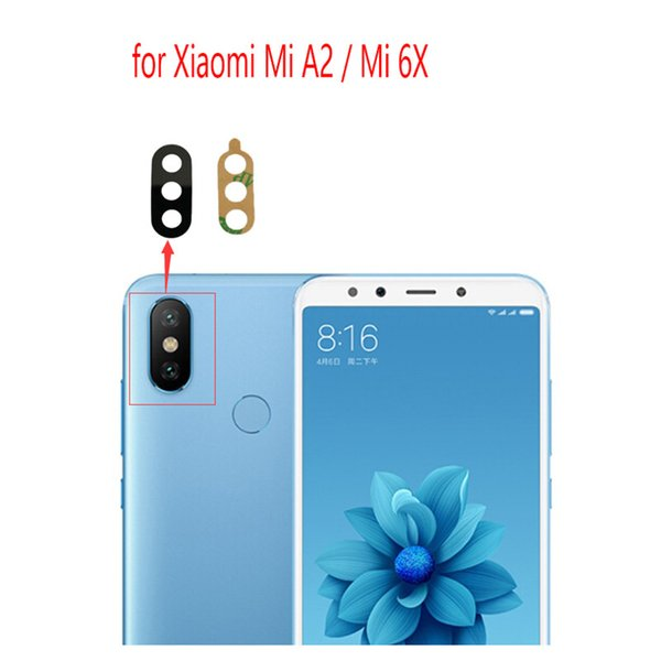 Rear Back Camera Lens Glass Sticker Adhesive Cover For Xiaomi MI 6X MI A2  Protective Camera Lens Glass Cover Replacement Wholesale Phone Parts Cell