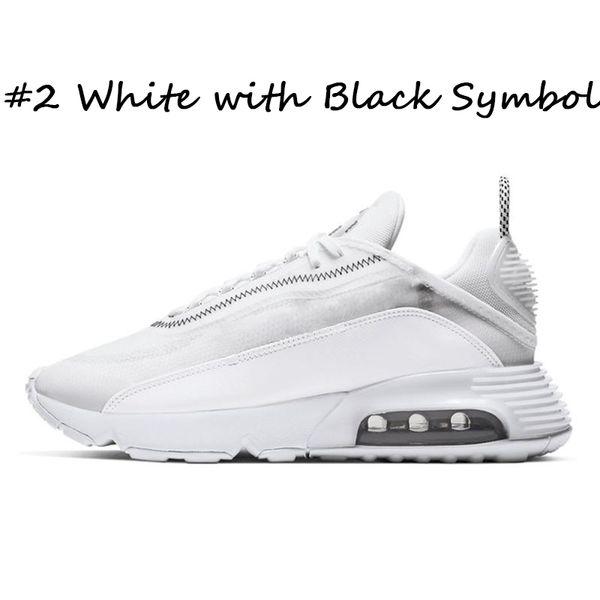 #2 White with Black Symbol