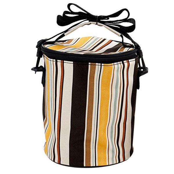 Hiking Accessories Camping Thermal Insulated Office Outdoor Picnic Cooler Pouch Lunch Bag Striped Extra Large Waterproof