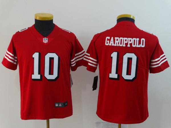 online retailer b64ea 89b81 Youth 10 Jimmy Garoppolo Jersey San Francisco 49ers Kids Football Jersey  Stitched Embroidery 16 Joe Montana Color Rush Boys Football Shirt Long  Sleeve ...