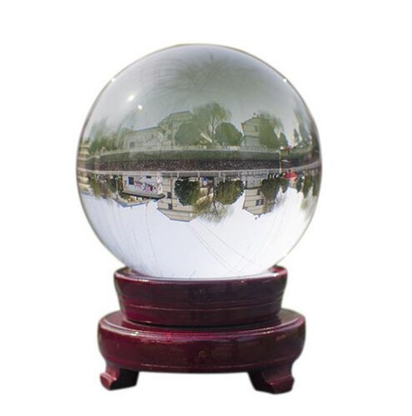New Arts Clear Glass Crystal Ball Healing Sphere Figurines Miniatures PPhotography Props Lensball Bridal Wedding Party Decoration Tool