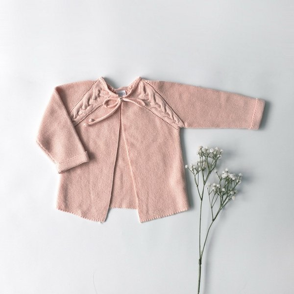 kids coat spring summer baby girls Knitted sweaters Girl sweet pink cardigan little girls clothing 3-5T