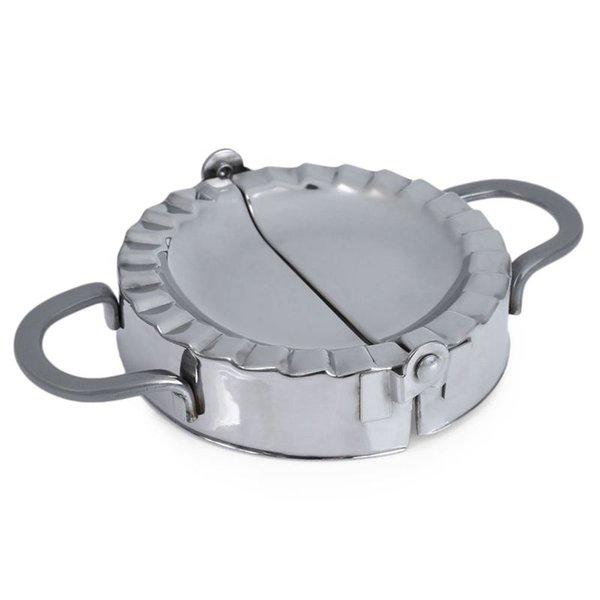 Stainless Steel Dumpling Maker Dough Cutter Pie Mold Pastry Tool Fold And Press, SILVER M