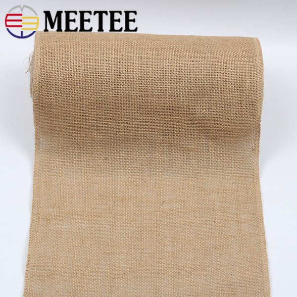 Meetee Primary Color Jute Linen Roll Lace DIY Handmade Craft Christmas Decoration Sewing Accessories Webbing BD336