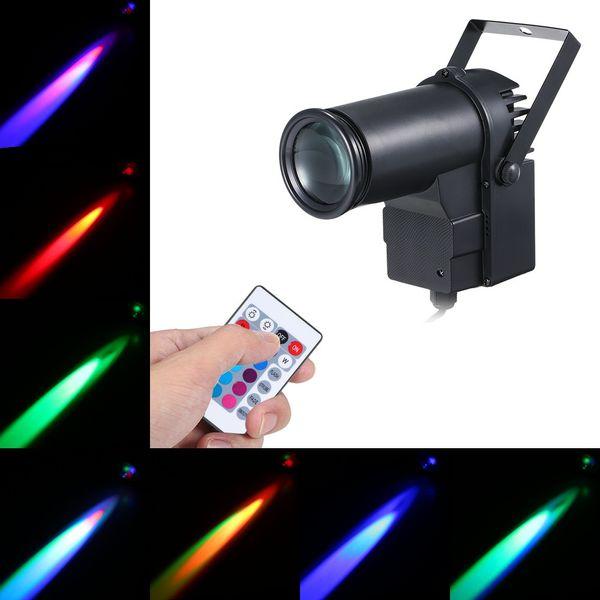 Etape LED faisceau de lumière Pinspot Spotlight DJ Disco RVB Spot Lumières lampe d'effet pour la maison de Noël KTV Bar