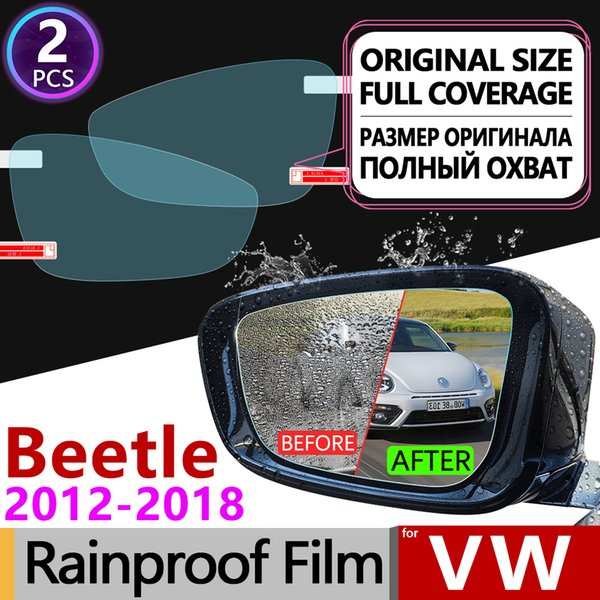 for Volkswagen VW Beetle 2012 - 2019 A5 Full Cover Anti Fog Film Rearview Mirror Rainproof Anti-Fog Films Clean Car Accessories