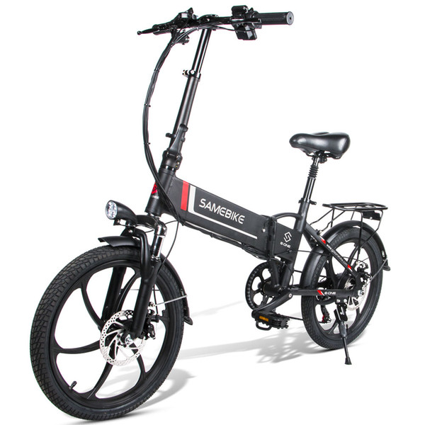 top popular SAMEBIKE 20LVXD30 350W Motor 48V 8AH Battery Foldable Electric Bicycle Aluminum Alloy LCD Display Electric Bicycle 2020