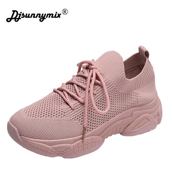 Nuove scarpe da ginnastica basse della piattaforma delle donne del progettista Scarpe casuali Donne 2019 Scarpe bianche della piattaforma delle scarpe di modo femme