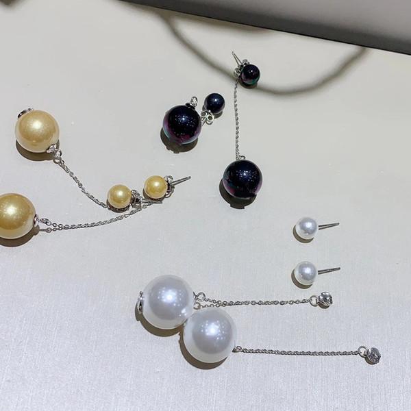 Pendientes con letras de moda C Pendientes de plata esterlina con caja de regalo, para damas colección de diseño de lujo pendientes accesorios de joyería