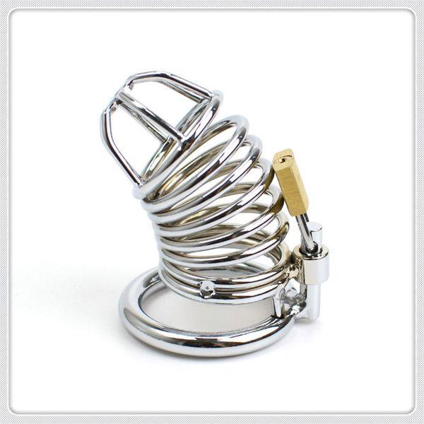 Appareils de chasse en acier inoxydable Cock Ring Cage Cage Pénis Anneau Pénis Cage Sex toys pour Hommes Dispositif Fétiche Anneau Pénis Gratuit DHL