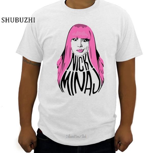 Nova chegou Nicki Minaj-de-rosa dos homens do cabelo T-shirt de algodão de moda 100% ocasional camiseta padrão de manga curta camiseta homme tamanho grande