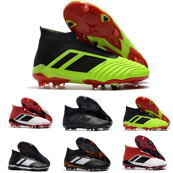 d1464f2c 2019 Predator 18 + x Botines de fútbol Pogba FG Botas de fútbol para hombre  Acelerador