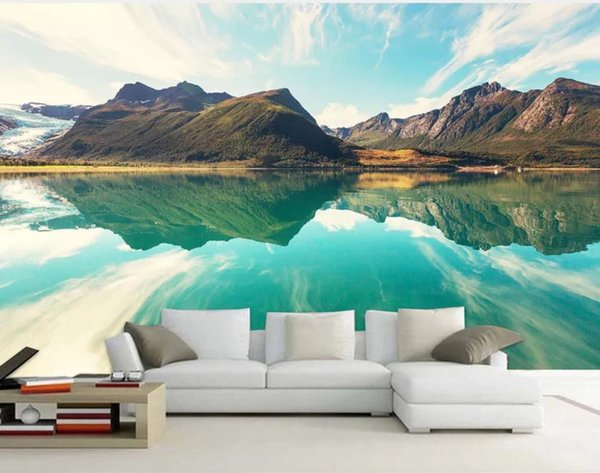 3d Landscape Wallpaper High Definition Scenic Mountains Lakes And Mountains Beautiful And Simple Background Wall Paintable Wallpaper Pc Desktop