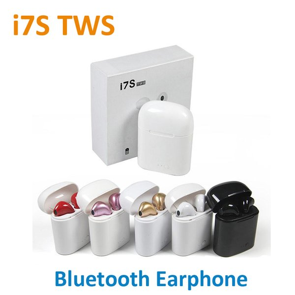 NEUE I7S TWS Drahtlose Bluetooth Ohrhörer Twins Kopfhörer Headset mit Ladegerät Box für iPhone X 8 7 Plus Android Samsung Sony Kopfhörer