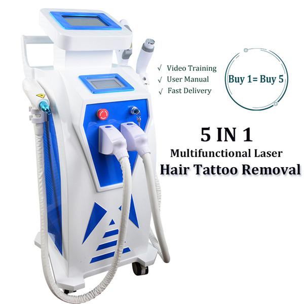 Multifuncional IPL tratamiento pigmento cara la piel rejuvenecimiento de la piel de la máquina OPT SHR-luz de tatuajes con láser YAG eliminación de la eliminación del vello cuidado de la piel