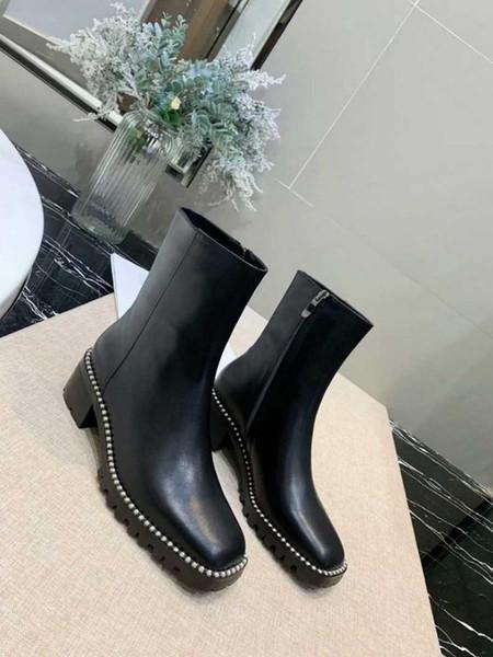 Tornozelo Mulheres Botas De Couro Preto High-Top Sneakers Designer De Luxo Casual Loafer Sapato Estilo Coreano Alta Qualidade