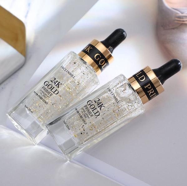 Hot 24k gold primer Long-lasting moisturizing concealer base oil control cream transparent gold foil makeup milk