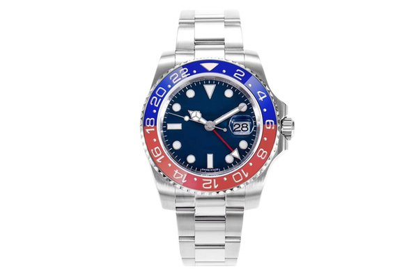 2019 DJ factory latest men's red and blue ceramic ring GMT. with 904 stainless steel Asian 2836 movement luxury men's watch sports watches