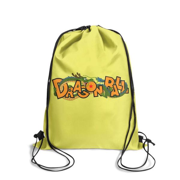 Drawstring Sports Backpack Dragon ball z super goku Shenron logo cute daily gym Pull String Backpack