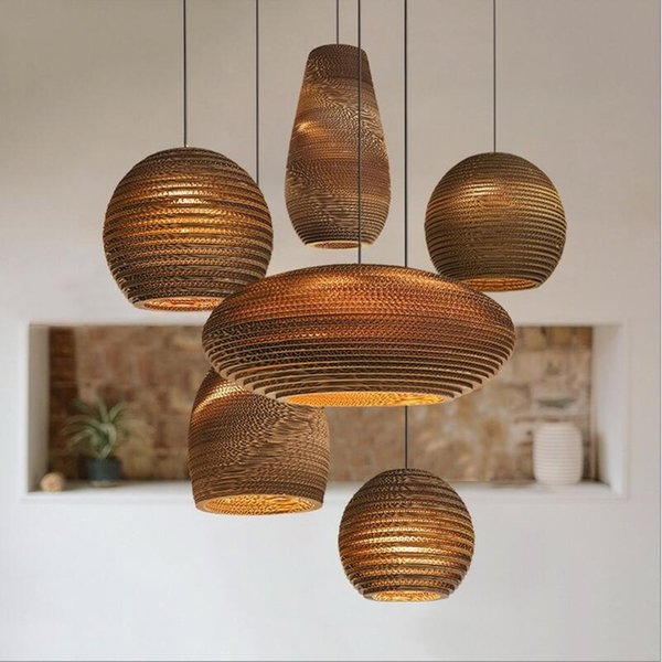 the best attitude 44b4d 8b767 Bamboo Paper Honeycomb Bamboo Pendant Lights Personalized Living Room  Restaurant Cafe Clothing Store Paper Pendant Lamps Blue Pendant Light Drum  ...