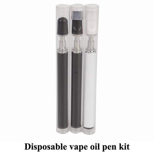 DS0103 Disposable Vape Pen Kit 0.5ml Ceramic Coil Cartridge For Thick Oil All In One Starter Kit Ecigarette Kits