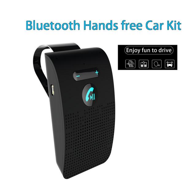 Aux Bluetooth Car Kit Sun Visor Cilp Handsfree Car Bluetooth Speakerphone with USB
