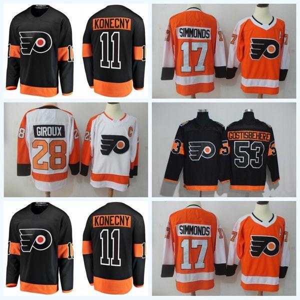 59bd61a1fa2 Philadelphia Flyers Jerseys Hockey 28 Claude Giroux Travis Konecny Shayne  Gostisbehere 17 Wayne Simmonds Voracek Ivan Provorov Eric Lindros