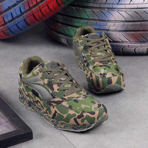 Zapatillas de deporte para amantes unisex Zapatillas de camuflaje para hombres Mujeres Zapatillas para correr Zapatillas de entrenamiento al aire libre transpirables