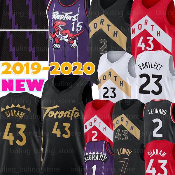 top popular Toronto Pascal 43 Siakam Raptors Jersey Vince 15 Carter Kawhi 2 Leonard Tracy 1 McGrady Fred 23 VanVleet Kyle 7 Lowry Marcus 21 Camby 2019