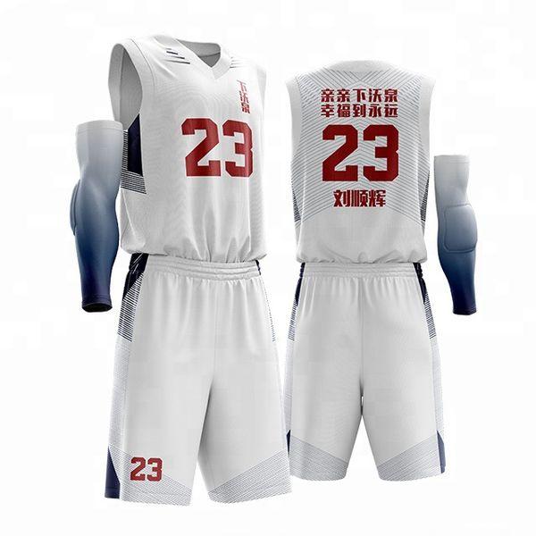Ensembles courts hommes / femmes de basket-ball d'université, chemise américaine de basket-ball de Throwback masculine, uniformes bon marché de la jeunesse de costume