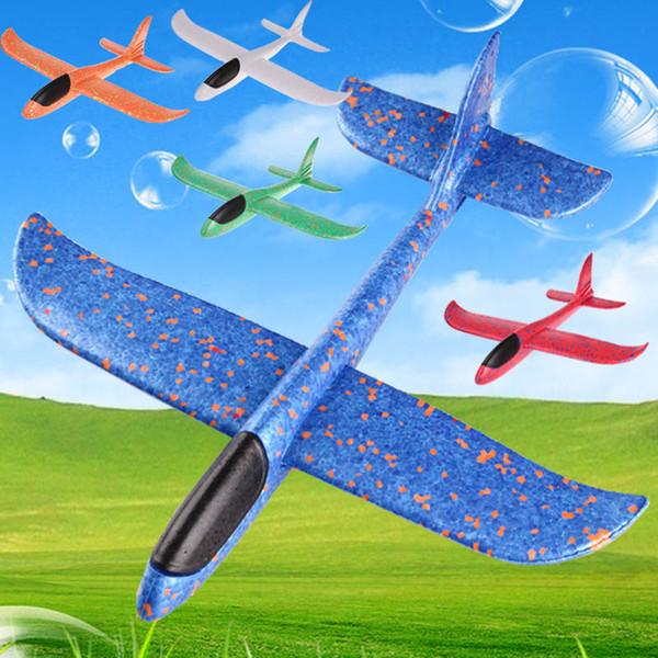 35см EPP Бросив Полет пены Самолет Самолет Ручной запуск Free Fly Plane Ручной Бросьте Plane Puzzle Модель Игрушки для малышей ребенка