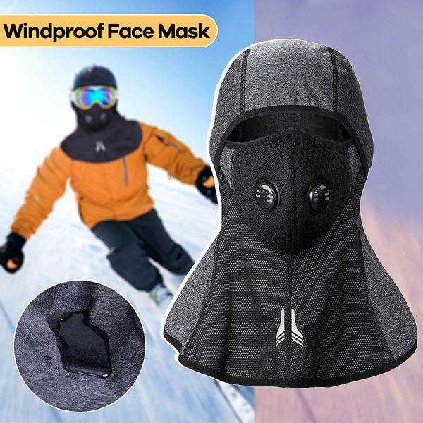 Cycling Winter Mask Warm Full Face Cover Anti-dust Windproof Ski Mask Snowboard Hood Anti-dust Bike Thermal Balaclavas Scarf