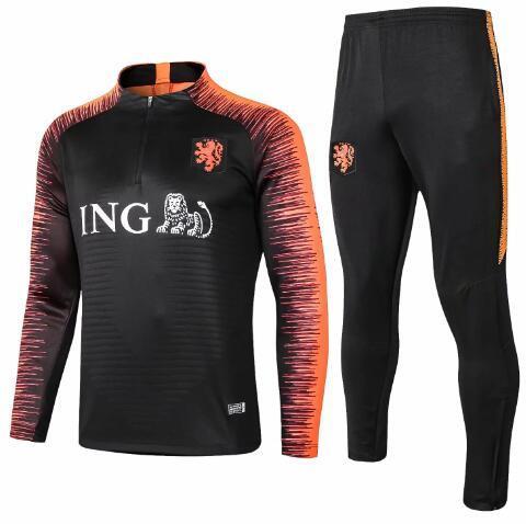Coppa del mondo di alta qualità La nuova giacca da calcio olandese, stagione di abbigliamento 2018-2019 tuta da allenamento di calcio Spedizione gratuita e all'ingrosso