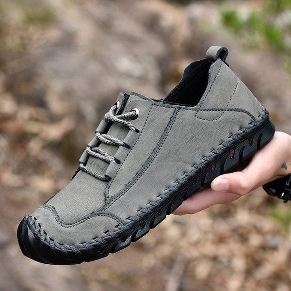 2019 мужская обувь большого размера искусственная кожа повседневная обувь весна осень против скольжения горы мягкий хороший дизайн мужской Daliy обувь