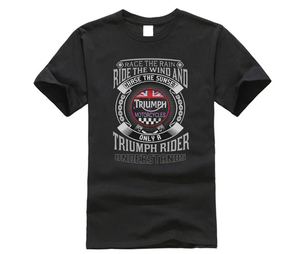 100% t shirt 2019 Fashion men t-shirt 100% RACE THE RAIN TRIUMPH