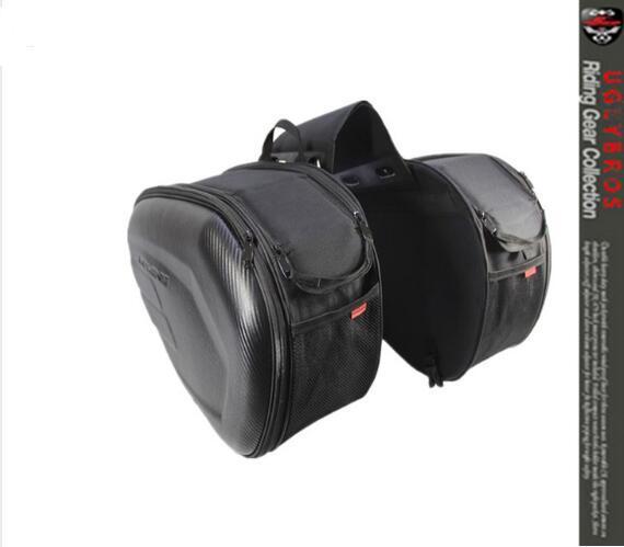 Komine SA212 motorized riding saddle bag 2 plastic plates 2 rain cover side bag really waterproof cover Can put down the helmet