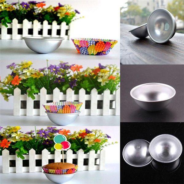 3D Aluminum Alloy Ball Sphere Bath Bomb Mold Cake Baking Pastry Mould 4.5 x 2cm 5.5 x 2.5cm 6.5 x 3cm c599