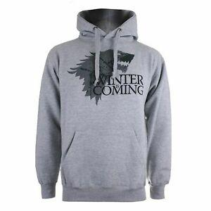Sweat à capuche gris Game of Thrones officiel HBO Winter Is Coming