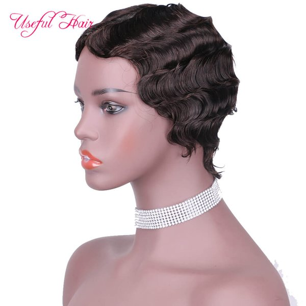 # 2 cheveux humains perruques NO.9012