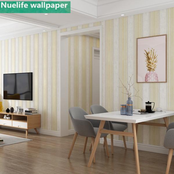 Großhandel Stil Vertikale Streifen Horizontale Muster Vliestapete Shop  Restaurant Schlafzimmer Wohnzimmer TV Hintergrund Tapete Von Ilexer, $31.77  Auf ...