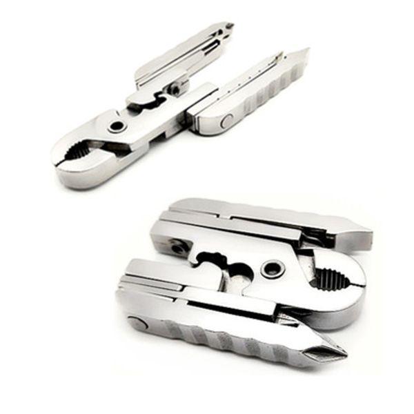 Outdoors mini folding knife screwdriver Pocket Plier home use equipment hand tools tortoise pliers Keychain QQA325