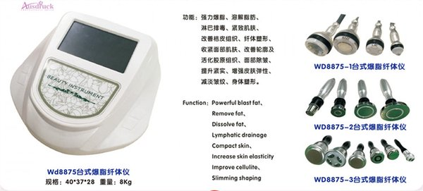 NEW 3 Model 40K strong cavitation vacuum Bipolar sixpolar body slimming massager facial flat RF Microcurrent Bio wrinkle removal