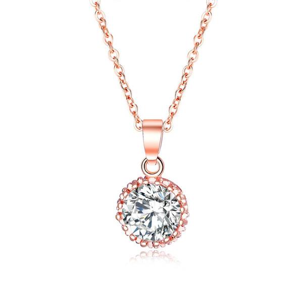 OPK delicata collana zircone intarsiato pendente della signora di alta classe a catena clavicola accessori romantici dolci