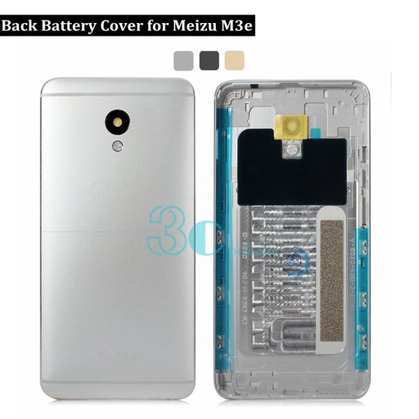 For Meizu M3e Housing Back Battery Cover Metal Door for Meizu M3e A680H A608Q & Camera Glass lens Replacement Repair Spare Parts